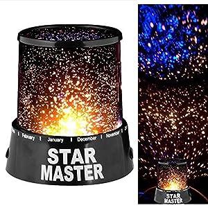 Skitic LED Starlight projektör lambası Colorful Sky Star Romantic Night yıldız lamba New yaratıcı tasarım LED Star Light Master projeksiyon Night uyku lambası Kids yatak odası yatak komodin Light çocuk hediye