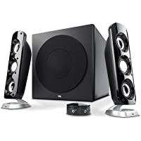 Cyber Acoustics CA-3908 3 Piece Flat Panel Design Subwoofer and Satellite Speaker System (CA-3908)