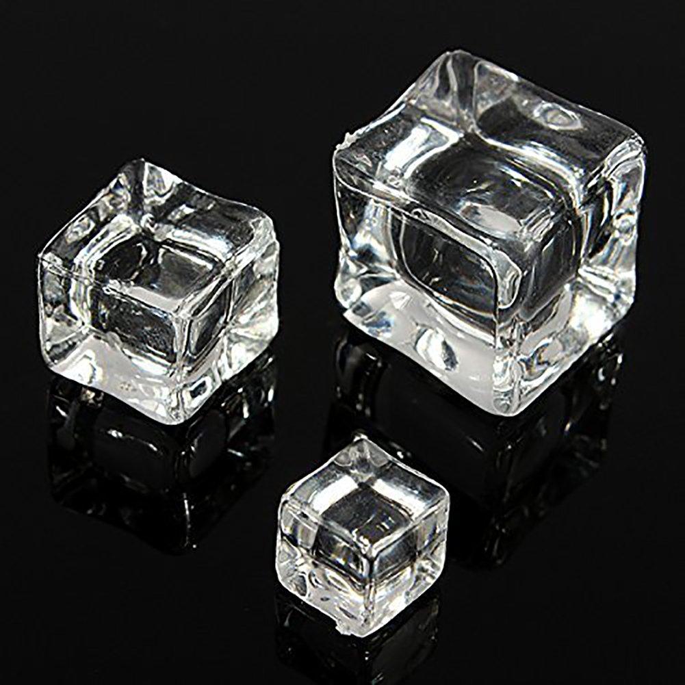 12 Pcs Acrylique Gla/çon Artificielle Gla/çons Faux Cristal pour Whisky Photographie F/ête Mariage Deco 2.5 cm