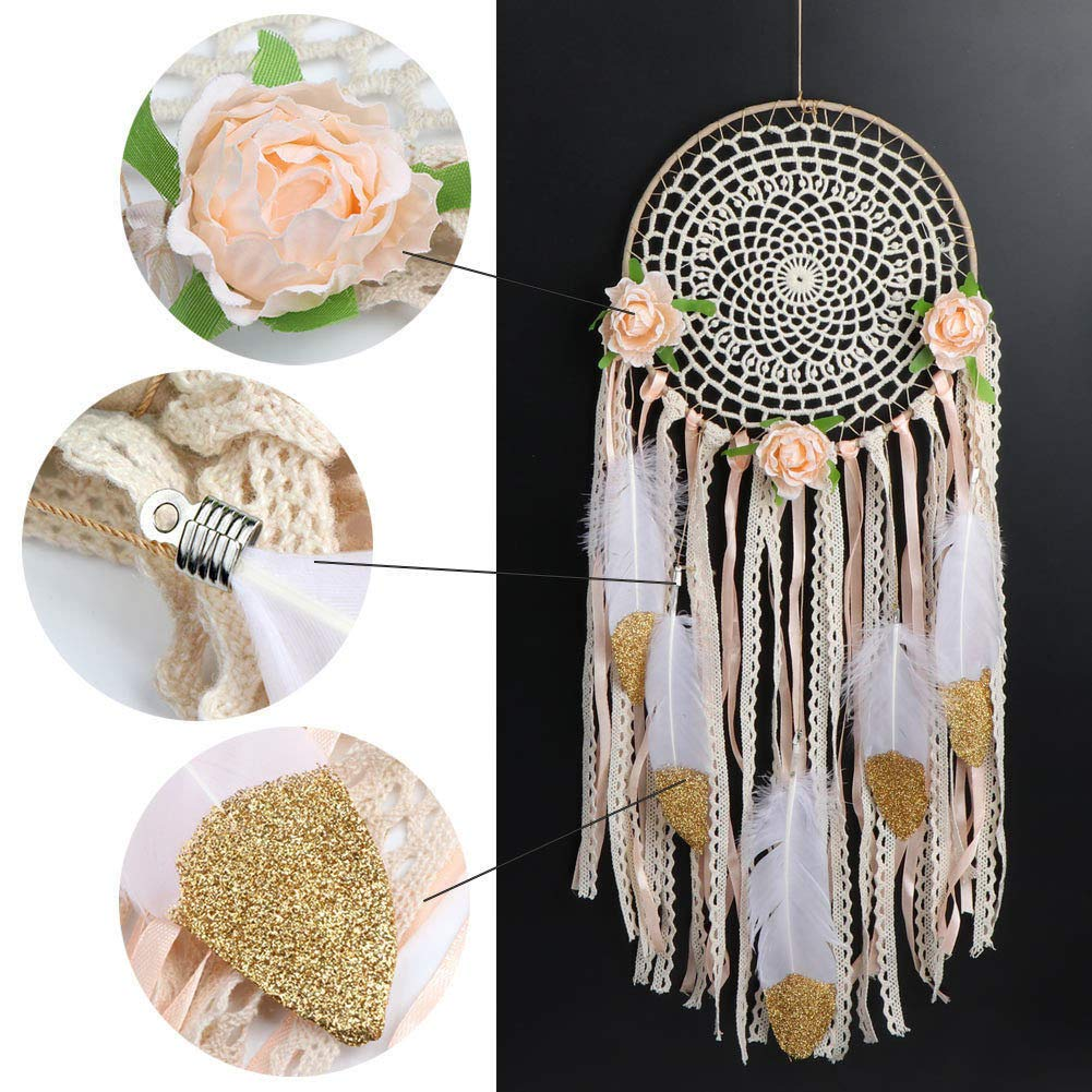 Gaddrt 20cm Handmade Dream Catcher Feathers Wedding Wall Car Hanging Decoration Home Ornament