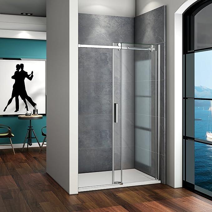 Mampara de ducha de 195 con puerta corredera, 6 mm de vidrio puro sin taza de ducha SK: Amazon.es: Bricolaje y herramientas