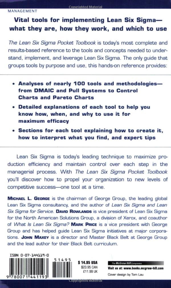 The lean six sigma pocket toolbook a quick reference guide to the lean six sigma pocket toolbook a quick reference guide to nearly 100 tools for improving quality and speed livros na amazon brasil 8580001050126 ccuart Choice Image