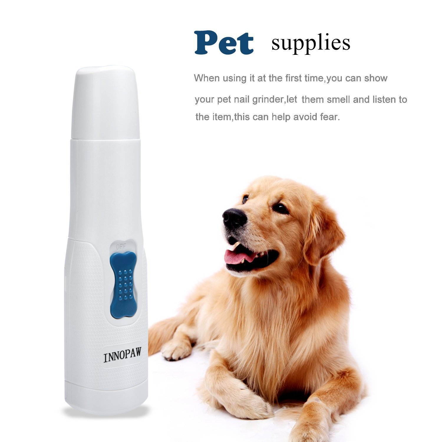 INNOPAW Dog Nail Grinder, Electric Pet Nail Grinders Trimmers Gentle Paws Premium Clipper Nail Grooming Tools Best for Cats, Dogs and Other Medium & Small Pets by INNOPAW (Image #5)