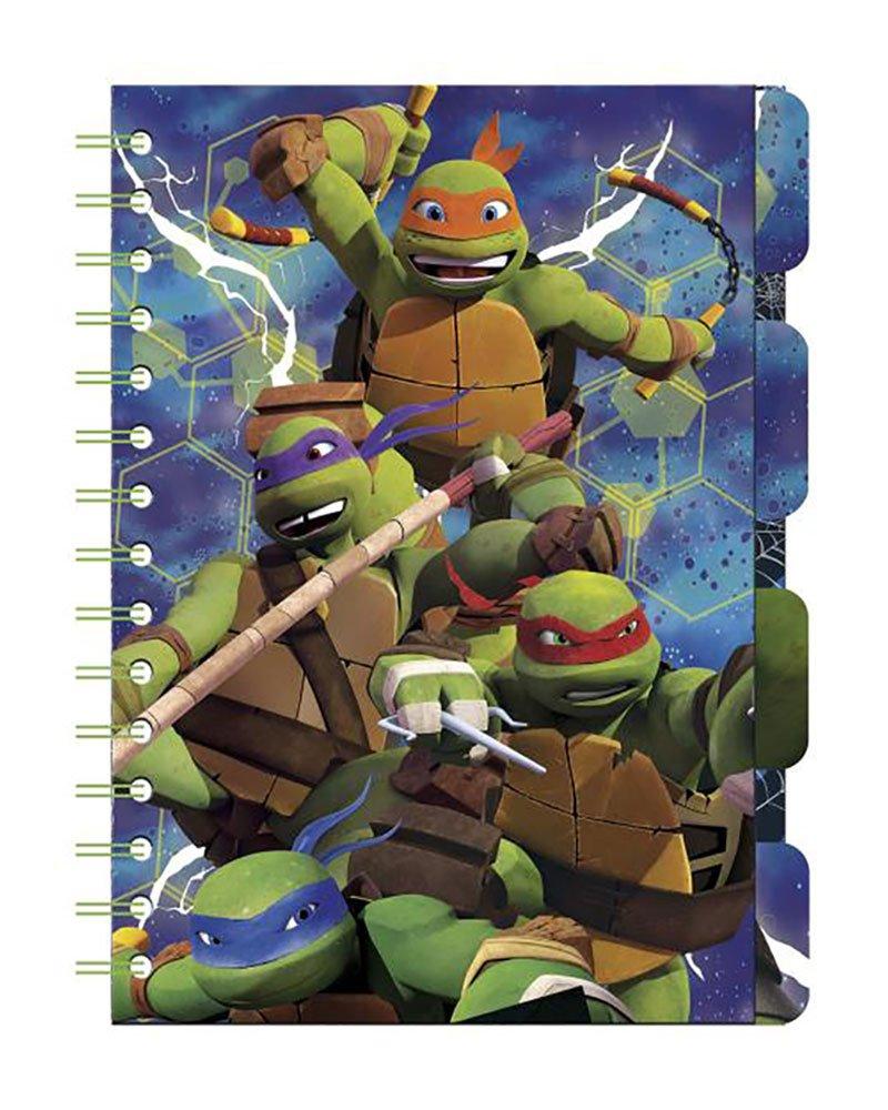 Tortugas Ninja Libreta A5 con marcadores: Amazon.es ...