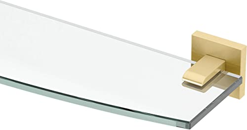 Gatco 4066 Elevate Glass Shelf, Brushed Brass