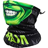 Autumn Winter Face Scarf Halloween Skull Face Cover Mask Adjustable Neck Gaiter Warmer Bandana Headwear for Cold Weather