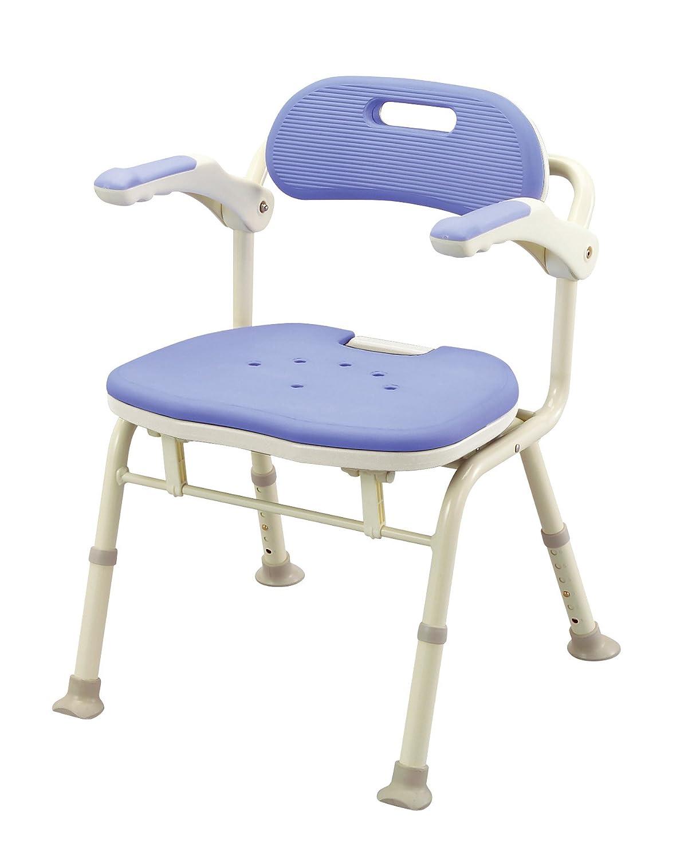 アロン化成 安寿 折りたたみシャワーベンチ IS ブルー B001GZBNZ4  ブルー