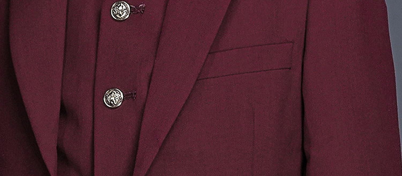 Liveinu Big Boys' 3 Piece Two-Button Suit Set Jacket Vest and Pants LVNU-xz076