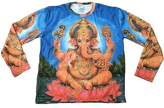TICILA Herren Camiseta Azul de Manga Larga Popular hindú Gott ...
