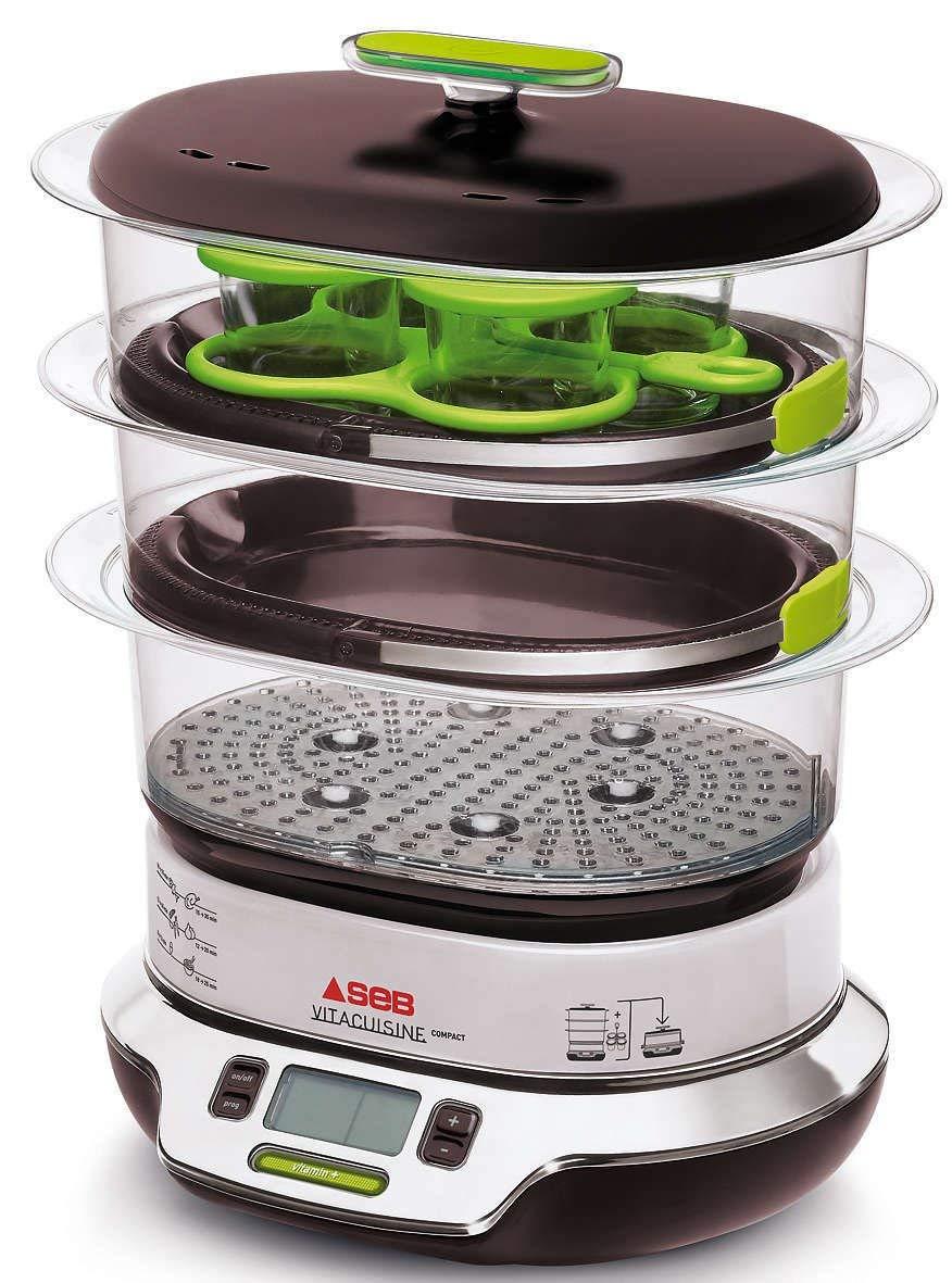 Seb VS404300 Vitacuisine Compact Vaporera sin BPA, potencia de 1800 W, capacidad de 10.3