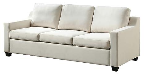 Amazon.com: Glory Furniture Ashley G977A-S, Ivory Sofa (2 ...