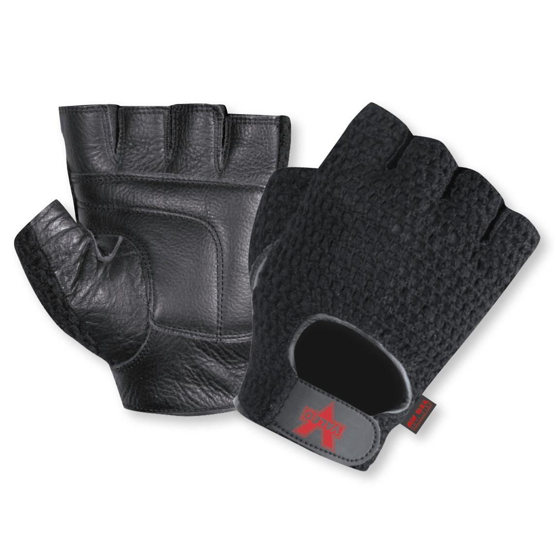 Valeo Industrial V450 Mesh Fingerless Anti-Vibe Gloves, VI4880, Pair, Black, Medium