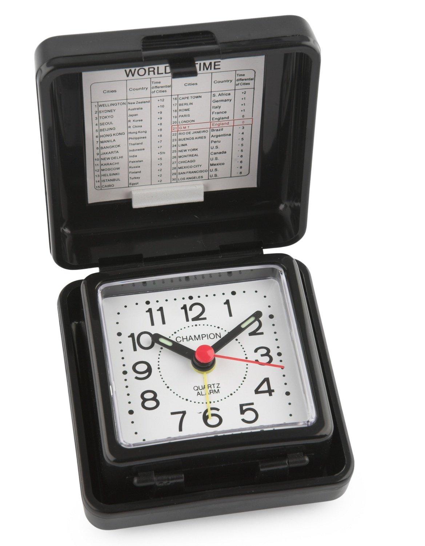 Champion Folding Basic Travel Alarm Clock TR50 (Black)