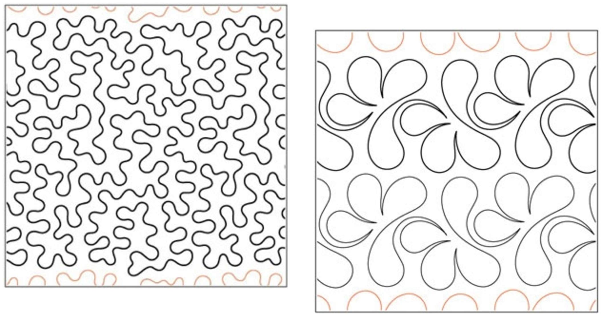 Quilting Creations Pantographs for Quilting | Set of 2 Rolls of Paper Pantograph Patterns for Longarm Quilting Machines | Basic Stipple and Splish Splash Quilt Pantographs by Generic