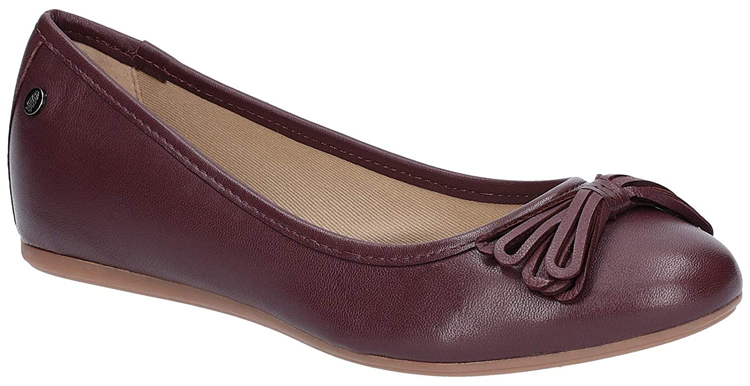 - Hush Puppies Womens Heather Bow Ballet shoes Wine Size UK 9 EU 43