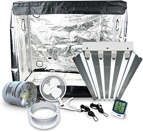 HTG Supply Mother Keeper Grow Tent Package with T5HO Fluorescent Grow Light