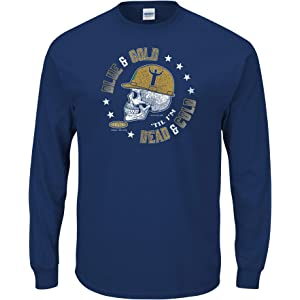 d3ae723e Smack Apparel ND Football Fans. Blue and Gold Til I'm Dead and Cold