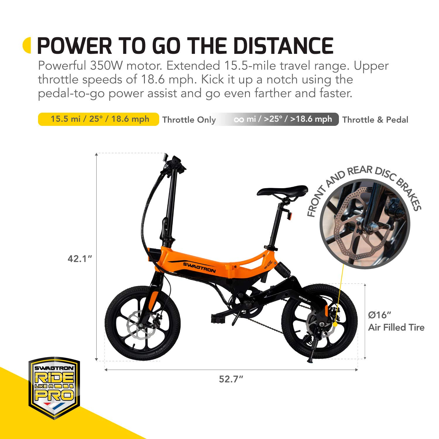 Amazon.com: Swagtron EB7 Plus Folding Electric Bike with ...