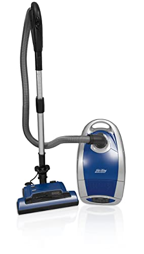 AirWay Altera HEPA Bagged Canister Vacuum Cleaner – Metallic Blue