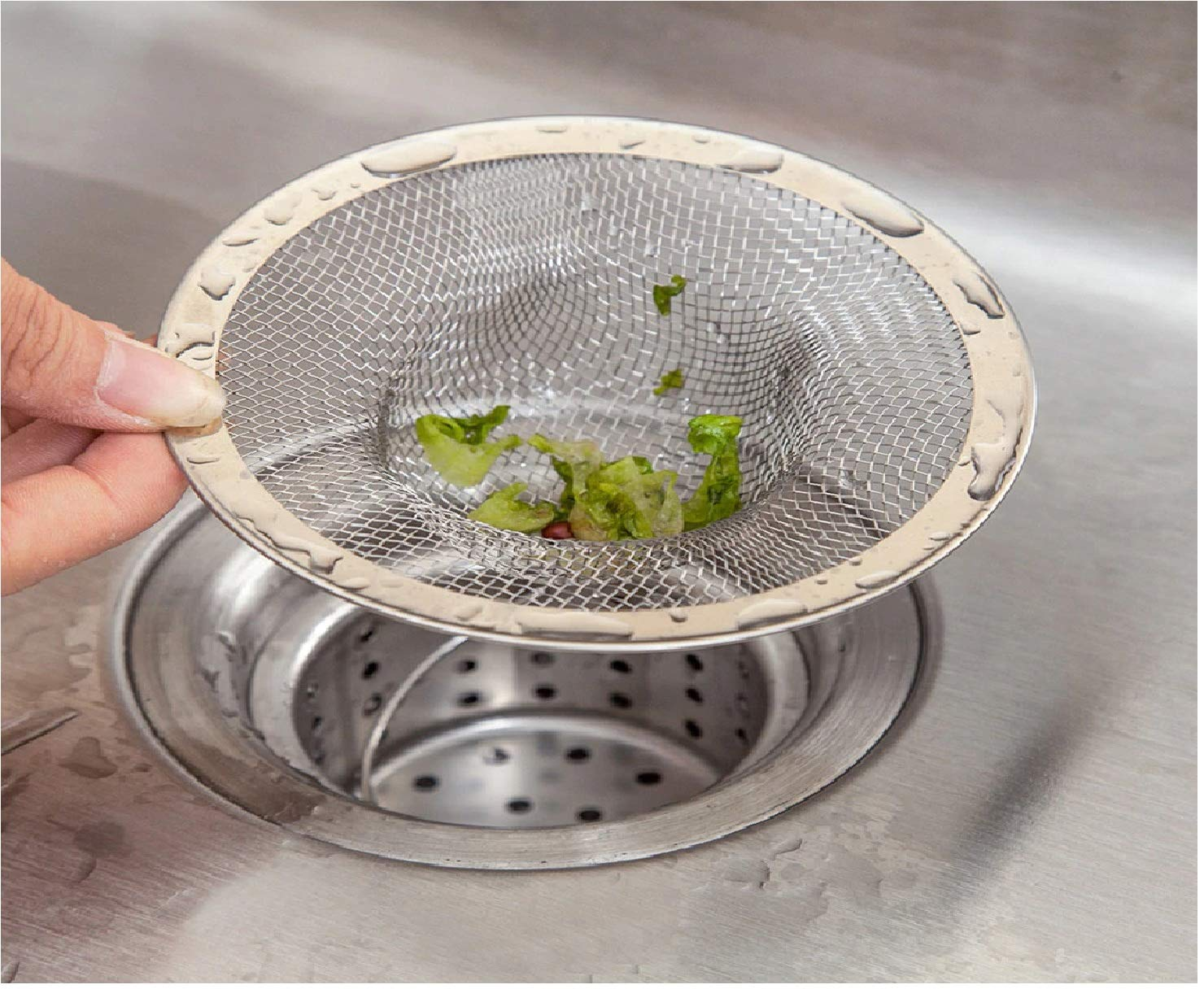 Sink Strainer Stainless Steel Kitchen Waste Drain Stopper Filter Net Drainer CO