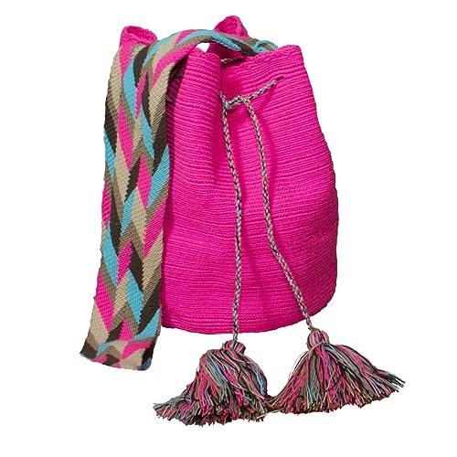 Mochila Wayuu de color rosa bolsa para raquetas de tenis Virgen: Brand Native: Amazon.es: Zapatos y complementos