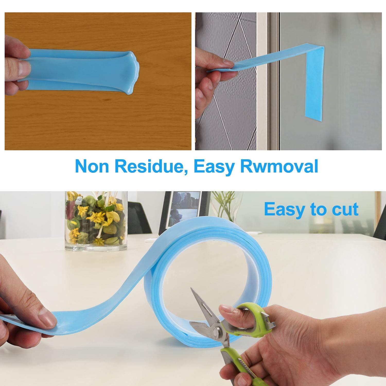 rutschfestes Gel-Klebeband doppelseitiges Klebeband f/ür Fotos und Poster zur Befestigung von Teppichmatten oder B/ürowand 9.84 FT // 3M waschbar abnehmbar und wiederverwendbar Traceless Nano Tape