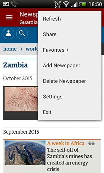 Amazon com: Newspapers of Zambia: Appstore for Android