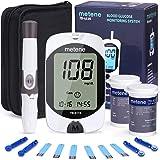 Diabetes Testing Kit, 100 Lancets, 100 Glucometer Strips, 1 Blood Glucose Meter, 1 Lancing Device, Blood Sugar Monitor Kit with Test Strips and Lancets, Sugar Machine for Diabetes, No Coding