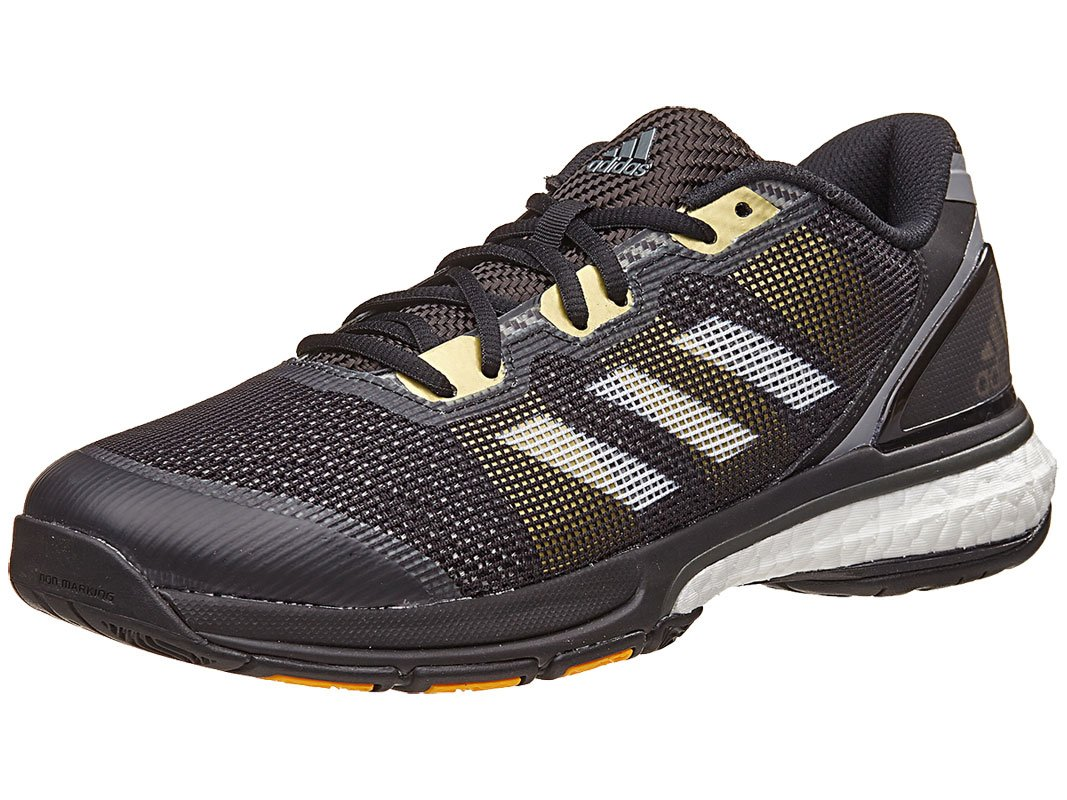 adidas Men's Stabil Boost II Volleyball Shoe, Black/White/Kurz Silver Foil, 7.5 M US by adidas