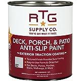 RTG Supply Co. 512597 Deck, Porch, Patio Anti-Slip Paint (Quart, Light Gray)