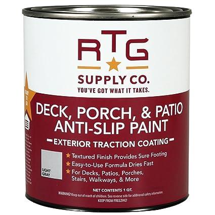 RTG Deck, Porch, U0026 Patio Anti Slip Paint (Quart, Light Gray