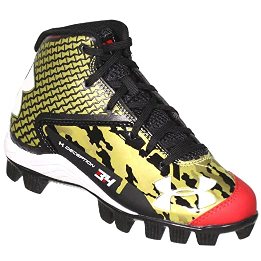 black and gold under armour cleats