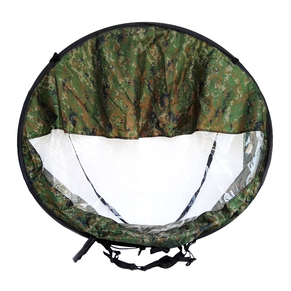 MagiDeal Foldable 42''/108cm Downwind Paddling Popup Kayak Wind Sail - Camouflage