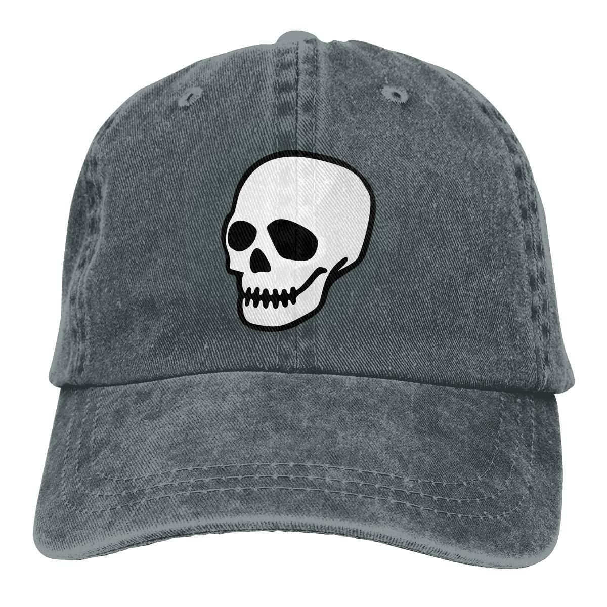 Adult Unisex Cowboy Cap Adjustable Hat Sugar Skull Cotton Denim