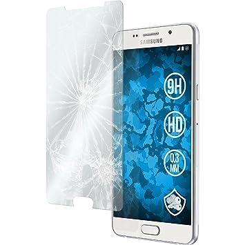 PhoneNatic 2 x Glas-Folie klar kompatibel mit Samsung Galaxy A7 (2016) A710 - Panzerglas für Galaxy A7 (2016) A710