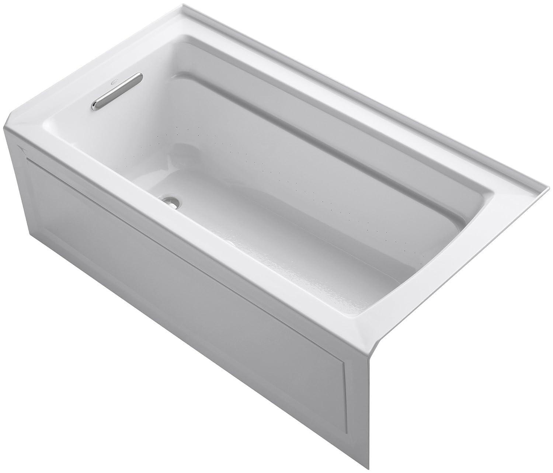 Kohler K 1122 Gla 0 Archer Bubblemassage 5 Foot Bath White
