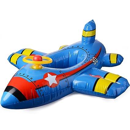 JYCRA - Asiento Flotante para bebé con Flotador para Barco, avión Inflable con Volante,