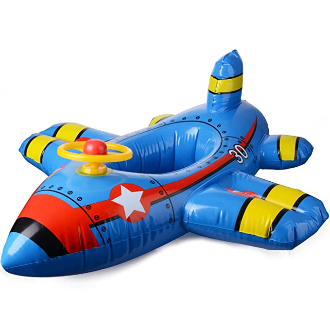 JYCRA - Asiento Flotante para bebé con Flotador para Barco, avión Inflable con Volante, Flotante, Anillo de natación para niños de 1 a 4 años de Edad, ...