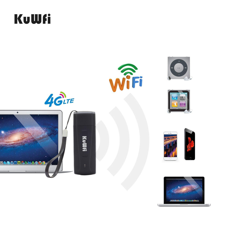 KuWFi Unlocked Pocket 4G LTE USB Modem Router mobile WiFi Router