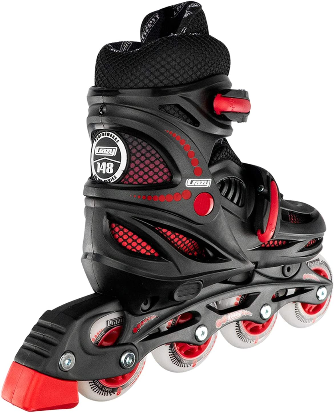 Crazy Skates Adjustable Inline Skates for Boys – Beginner Kids Roller Blades Model 148