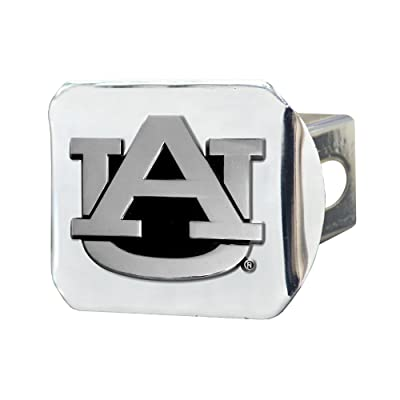 FANMATS NCAA Auburn University Tigers Chrome Hitch Cover: Automotive