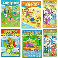 6 Pack Learning addition and subtraction with stickers, scratching and Kakuro