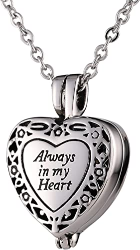 CZ Cremation Urn Necklace Memorial Necklace Heart Urn Necklace Ash Holder Jewelry Includes Funnel
