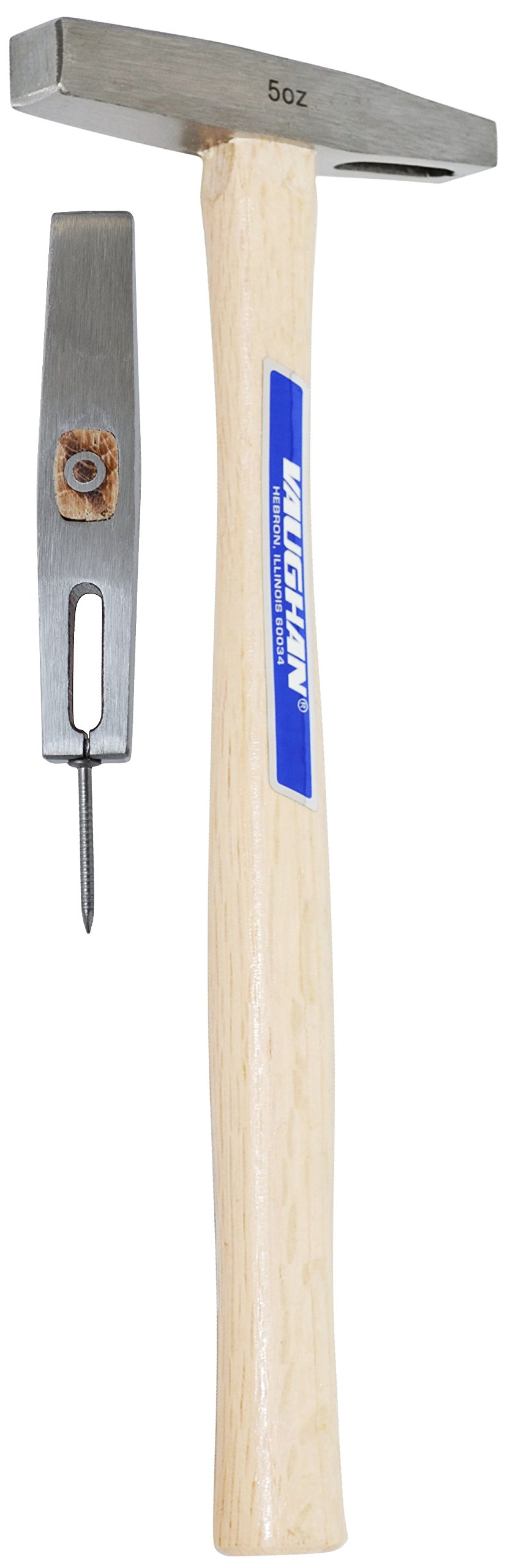 Vaughan SBP5 Professional Magnetic Tack Hammer, Hickory Handle, 11-Inch Long.