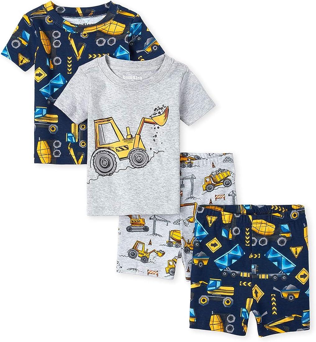 The Childrens Place Baby Boys 4-Piece Pajama Set