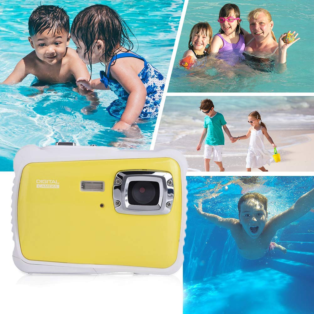 Vetté Digital Camera for Kids with 16GB MicroSD Card Included - Kids Camera Waterproof - 4X Zoom, up to 12MP, 720 HD Underwater Video Quality, TFT LCD Screen for Kids (Yellow) by Vetté (Image #4)