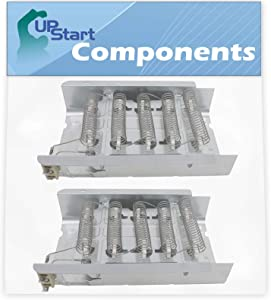 2-Pack 279838 Dryer Heating Element Replacement for Whirlpool SEDX600JQ1 Dryer - Compatible with 279838 Heater Element - UpStart Components Brand