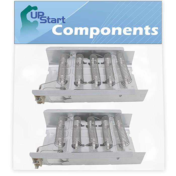 2-Pack 279838 Dryer Heating Element Replacement for Roper REX4625EW0 Dryer - Compatible with 279838 Heater Element - UpStart Components Brand