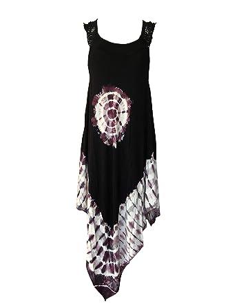 62ffa3c2b6 India Boutique Crochet Dress Embroidery Summer Beach Handkerchief Umbrella  Dress (Black with Purple Tie-