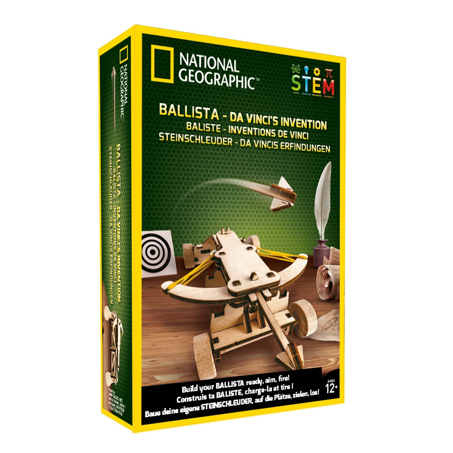 NATIONAL GEOGRAPHIC Da Vinci's DIY Science & Engineering Construction Kit- Build Your Own Wooden Model of The Original Ballista